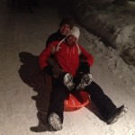 Me and Sonya Sledding