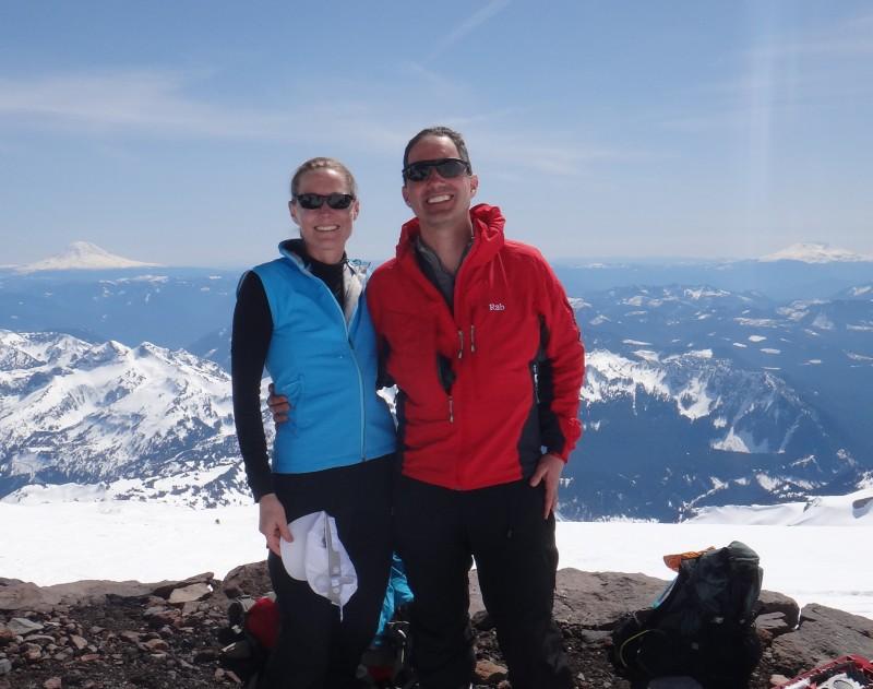 2013-04-24 V&D at Camp Muir on Rainier