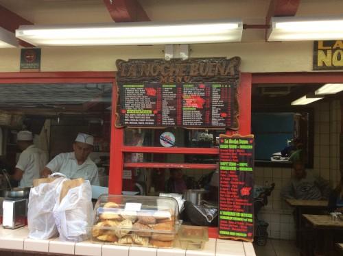 La Noche Buena taco stand